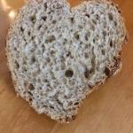 Herzförmiger Brotanschnitt