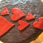 Kuchen-Herzverzierung